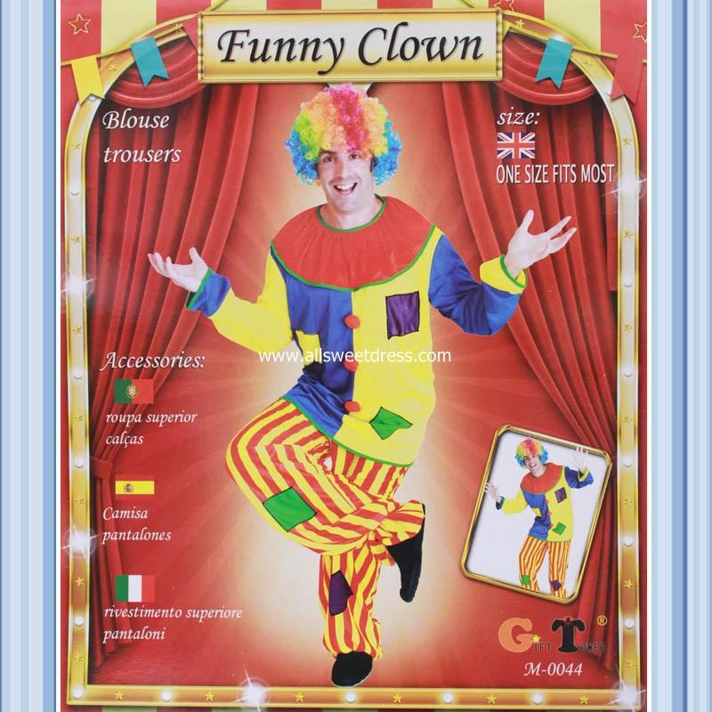 เช่าชุดแฟนซีการ์ตูน ตัวตลกโบโซ่ Funny Clown Colorful