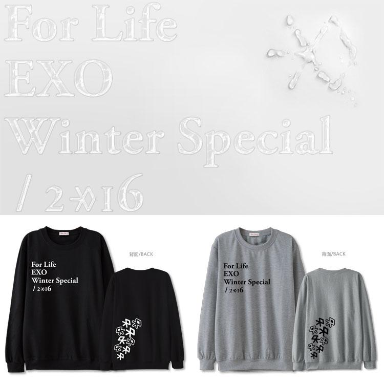 เสื้อแขนยาว EXO Winter For Life -ระบุสี/ไซต์-