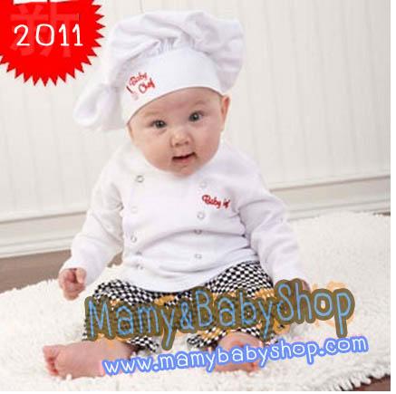 ชุดเชฟพ่อครัวตัวน้อย Baby Chef