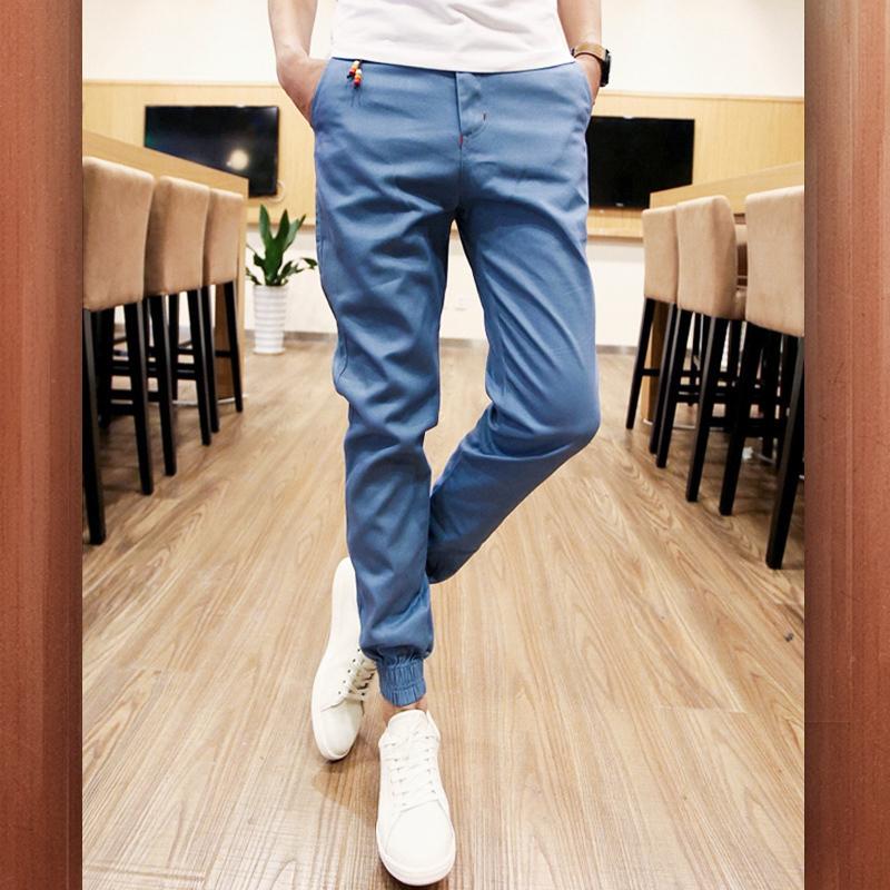 กางเกงขายาวแฟชั่น ทรงJOGGER สีฟ้า รุ่น KOMA LP0020