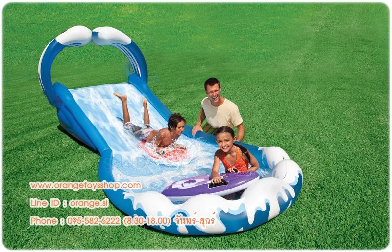 """สไลด์เดอร์ สวนน้ำ Children's play center """"Ride on the waves of"""" Intex 57469 NP"""