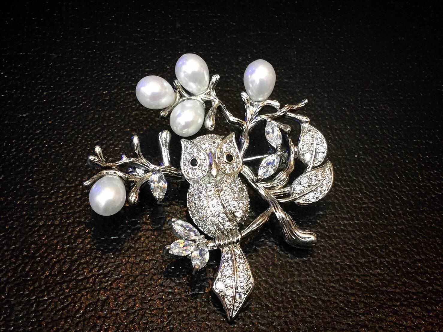 พร้อมส่ง Diamond Brooch เข็มกลัดเพชร