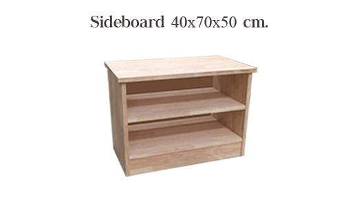 ชั้นวางของ 2 ชั้น ทำจากไม้จริง แข็งแรงทนทาน รับน้ำหนักได้อย่างดี