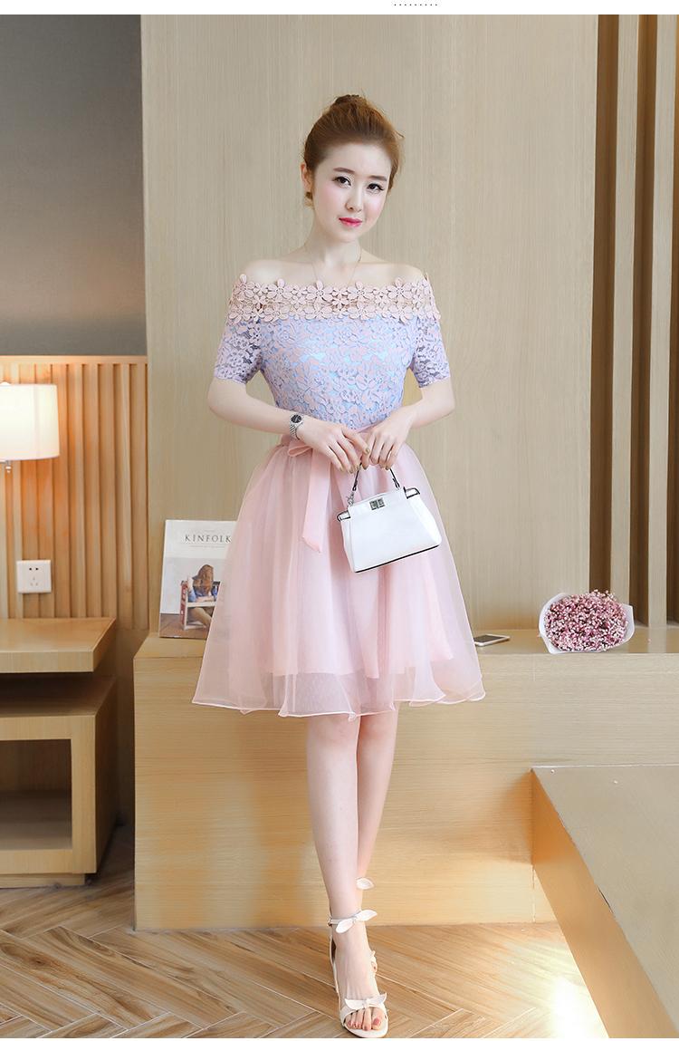 เดรสเกาหลี พร้อมส่ง ชุดเดรส ตัวเสื้อผ้าลูกไม้ลายดอกไม้