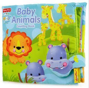 หนังสือผ้า BABY ANIMALS ยี่ห้อ Fisher-Price ภาษาอังกฤษ