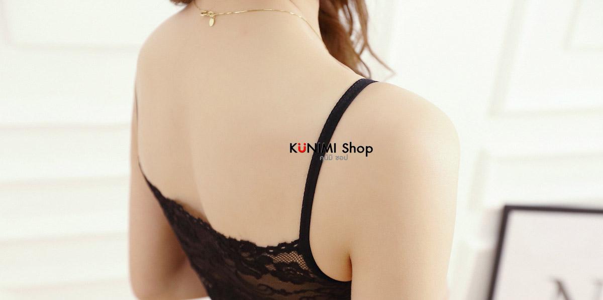 เสื้อกล้ามสา่ยเดี่ยวซับใน ผ้าลูกไม้ทั้งตัว มีผ้าซับในอีกชั้นครึ่งตัว ผ้ายืดใส่สบาย สวย เซ็กซี่มากคะ จะใส่เดี่ยวๆ หรือ จะใส่ชุดกับเสื้อคลุมอีกตัวก็ดูดี ขนาด หน้าอก : 68 - 100 cm. ความยาวชุด(ไม่รวมสายเสื้อ) : 45 x 75 cm. มี 3 สี : ขาว ดำ ครีม
