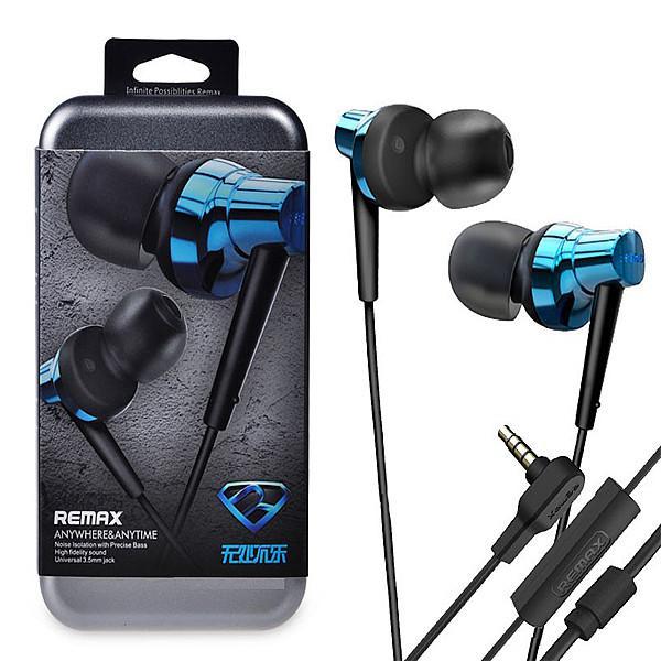 หูฟังแบบ Small Talk เสียงเบส แน่นทุ้ม ตัดเสียงรบกวน ยี่ห้อ Remax ุร่น RM-575 สีฟ้า