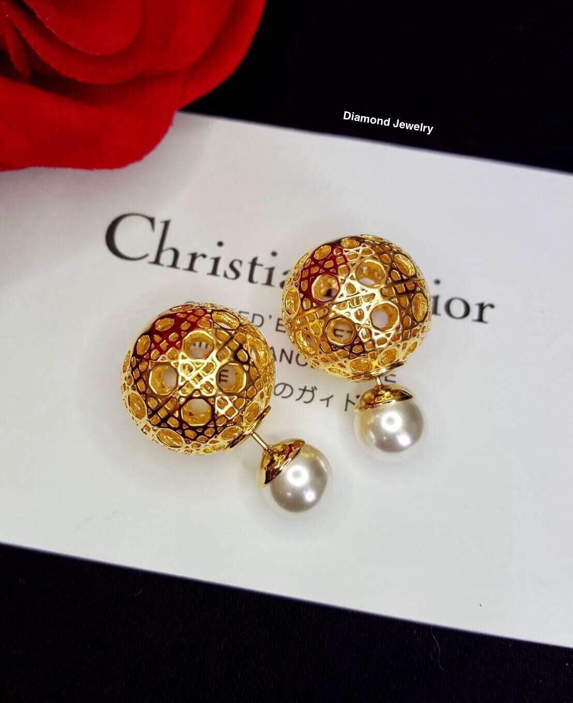 พร้อมส่ง Christian Dior Earring ต่างหูคริสเตียนดิออ
