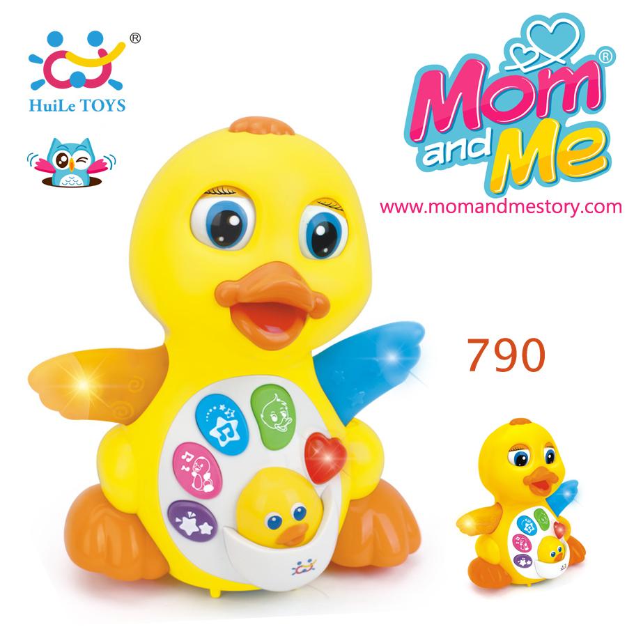 HUILE TOYS ของเล่นเด็กเป็ดน้อย EQ Flapping Yellow Duck ร้องเพลง มีปุ่มเสียง EFFECT สำหรับน้อง 18 เดือน+
