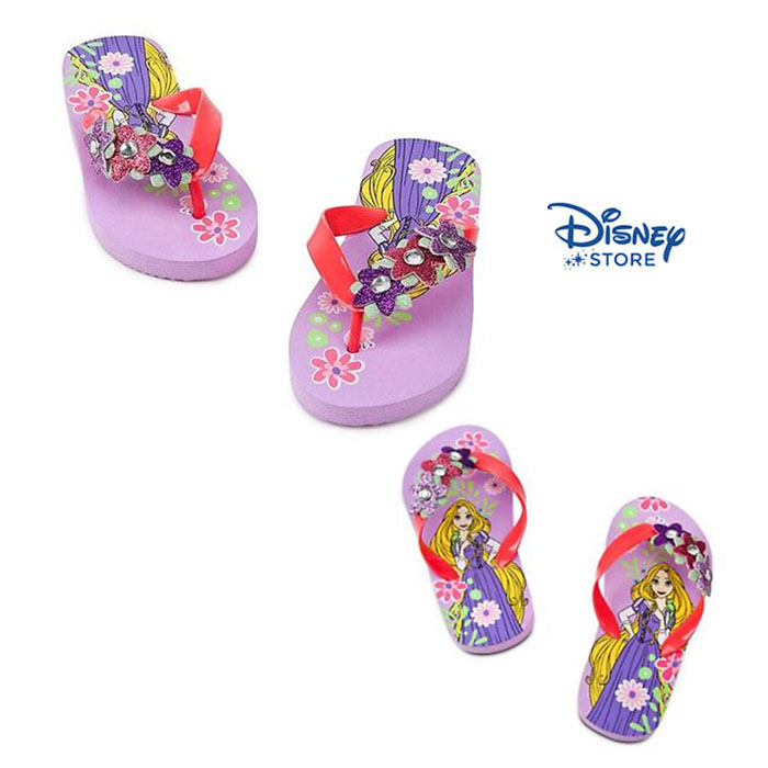 Rapunzel flip flop for girls(size 11/12) (พร้อมส่ง)