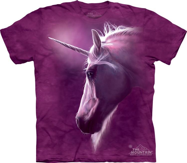 Pre.เสื้อยืดพิมพ์ลาย3D The Mountain T-shirt : Divine Unicorn