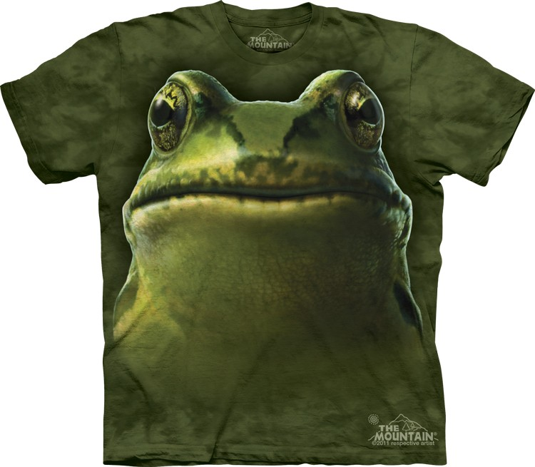 Pre.เสื้อยืดพิมพ์ลาย3D The Mountain T-shirt : Frog Head