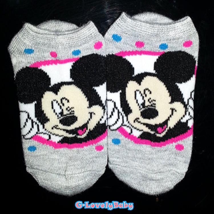 Disney ถุงเท้าเด็ก 1-3 ขวบ ถุงเท้าเด็กหญิง ถุงเท้าเด็กชาย ดิสนี่ย์ มินนี้ & มิกกี้เมาส์ ของแท้
