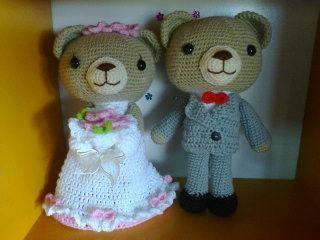 คู่หมีแต่งงาน 10 นิ้ว