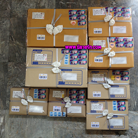 กล่องไปรษณีย์ใส่นิยายให้ลูกค้าจากสำนักพิมพ์บีไมน์,บลูเบลล์,อะเมธิสต์และสื่อวรรณกรรม