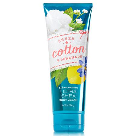 Bath & Body Works Ultra Shea Body Cream กลิ่น Sheer Cotton & Lemonade