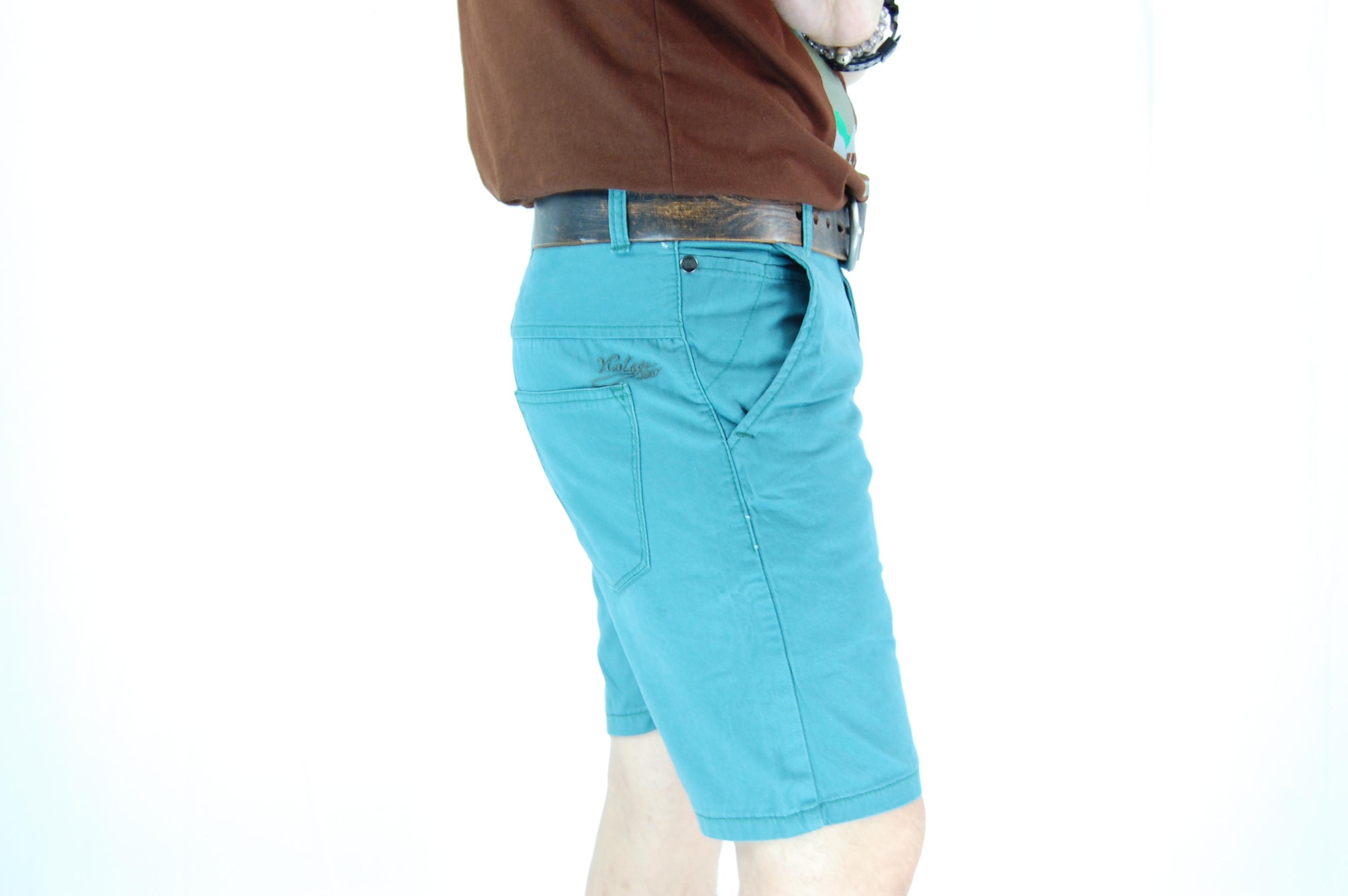กางเกงขาสั้น สีฟ้ามน 29-6--5