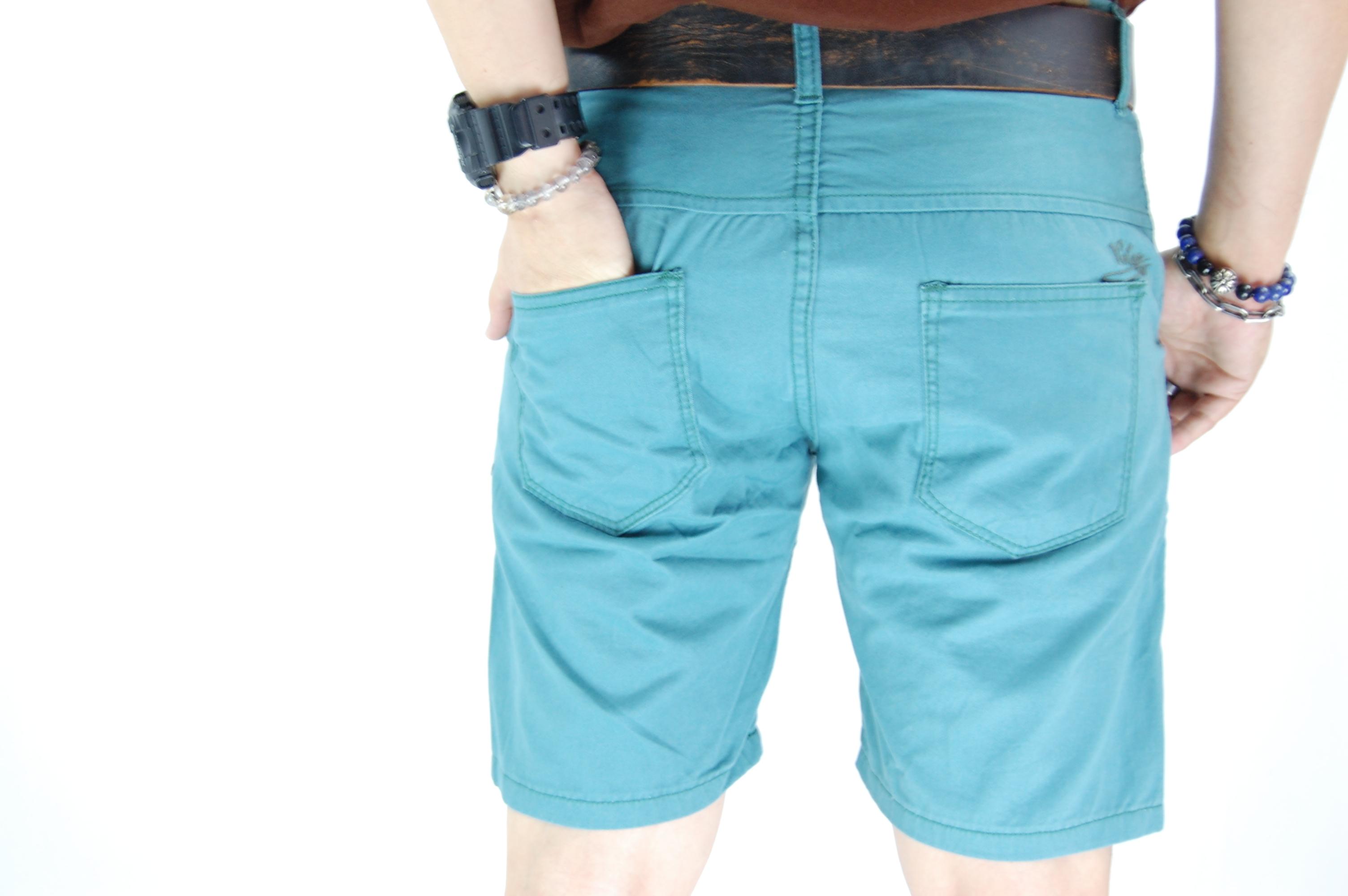 กางเกงขาสั้น สีฟ้ามน 29-6--2