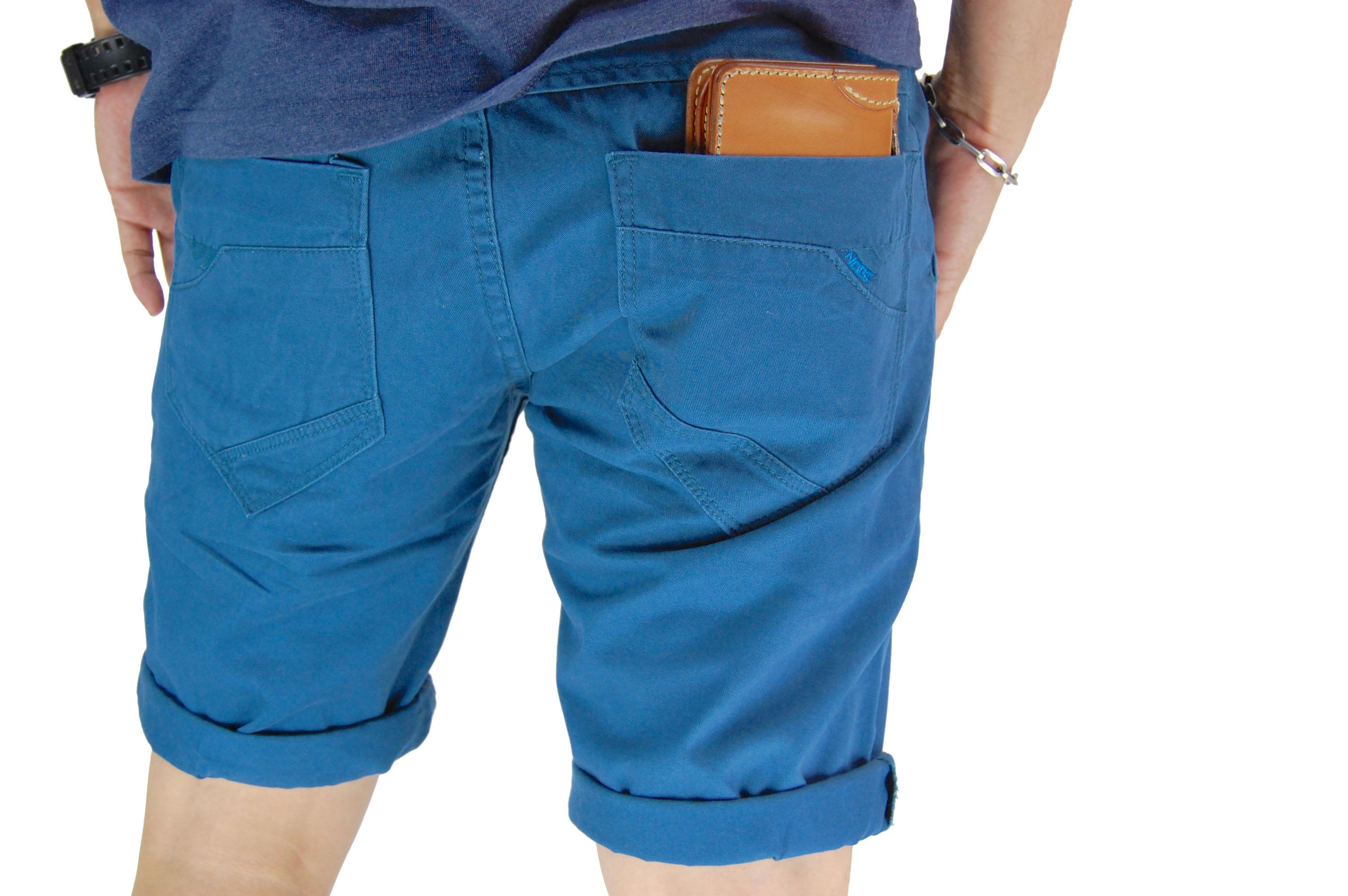 กางเกงขาสั้น สีฟ้าเข้ม NT28-3--3