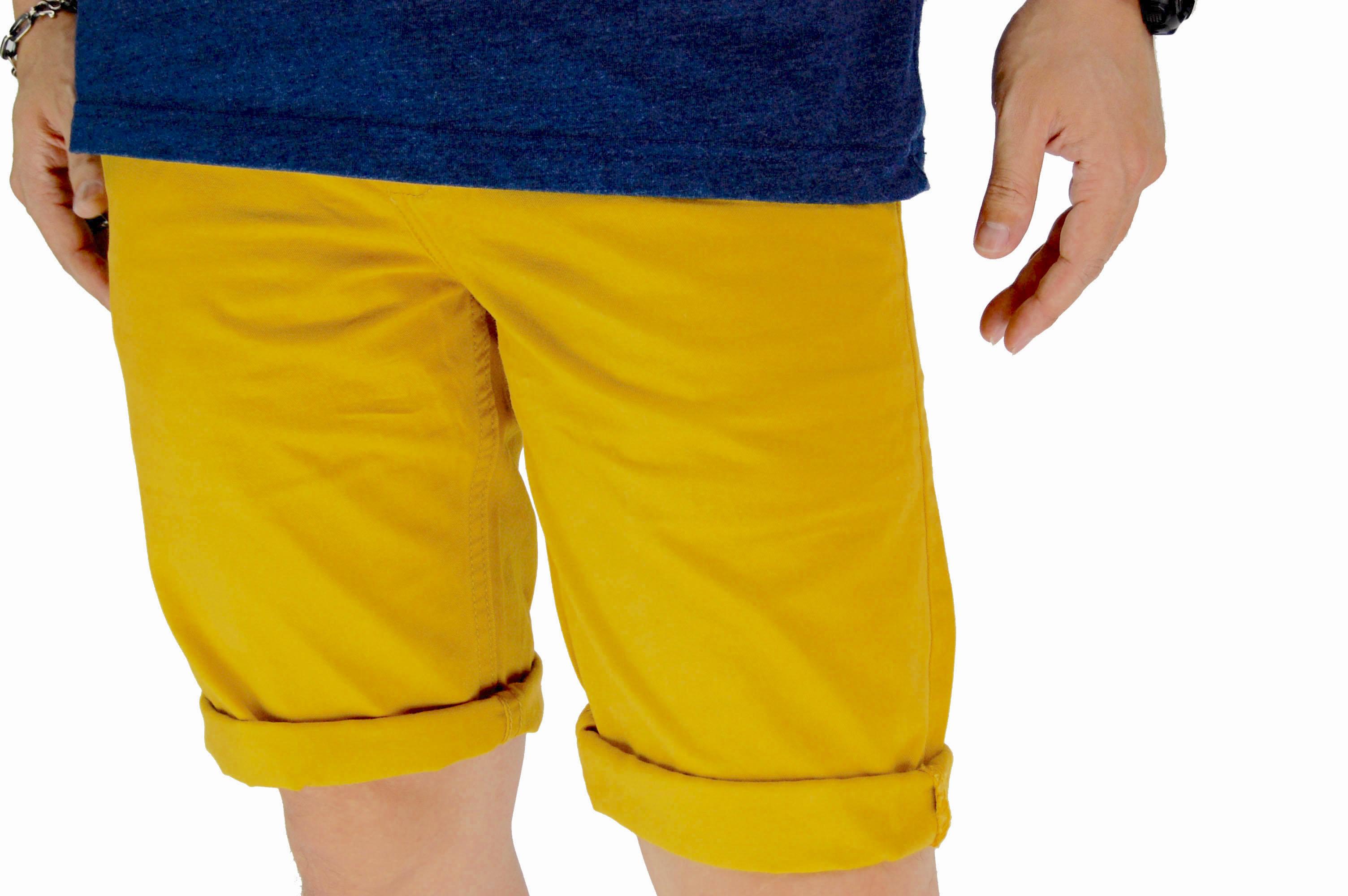 กางเกงขาสั้น สีเหลืองเข้ม NT28-1