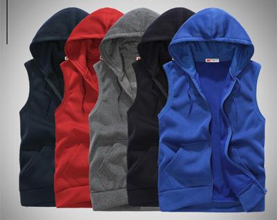 เสื้อฮู้ดแจ็คเก็ตเกาหลี แขนกุด แนวSport ดีไซน์กระเป๋า มี5สี