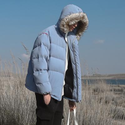 เสื้อฮู้ดแจ็คเก็ตเกาหลี แต่งขนเฟอร์รอบฮู้ด มี2สี
