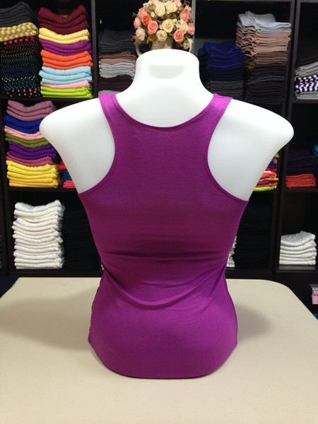 เสื้อกล้ามหลังสปอร์ต สีม่วงบานชื่น
