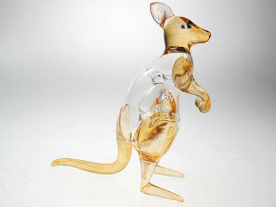 จิงโจ้แก้วเป่า 2 in 1 Glass Figurine Kangaroo 2 in 1