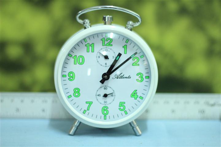 T0652 นาฬิกาปลุกเยอรมันโบราณ Atlanta ส่ง EMS ฟรี