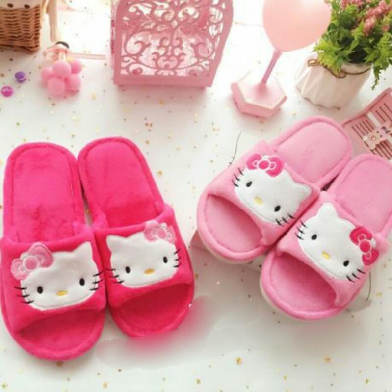 รองเท้าใส่ในบ้าน/ออฟฟิศ ฮัลโหลคิตตี้ Hello Kitty ขนาด free size ลายหน้าคิตตี้โบว์ชมพู