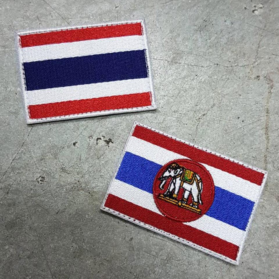 อาร์มธงชาติ เล็ก ขนาด 5x7.5 CM. ตีนตุ๊กแก