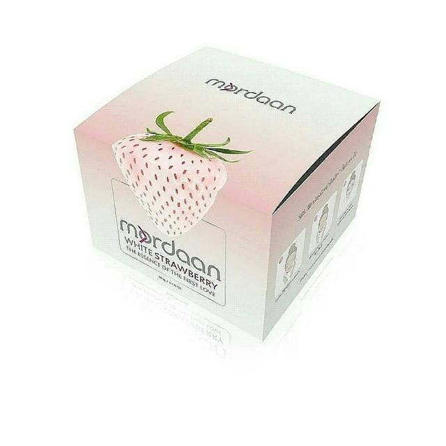 มอแดน ไวท์สตอเบอรี่ Mordaan White Strawberry ครีมผสมสารสกัดจากสตอร์เบอร์รี่ขาว