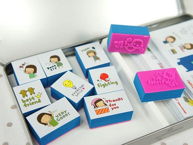 ชุดปั้ม ULIKE tin cute sticker seal