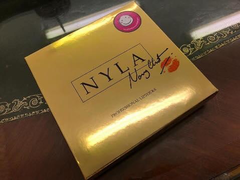 Nyla Lipstick 3 colors Gold Set ไนล่า ลิปสติค 3 สี