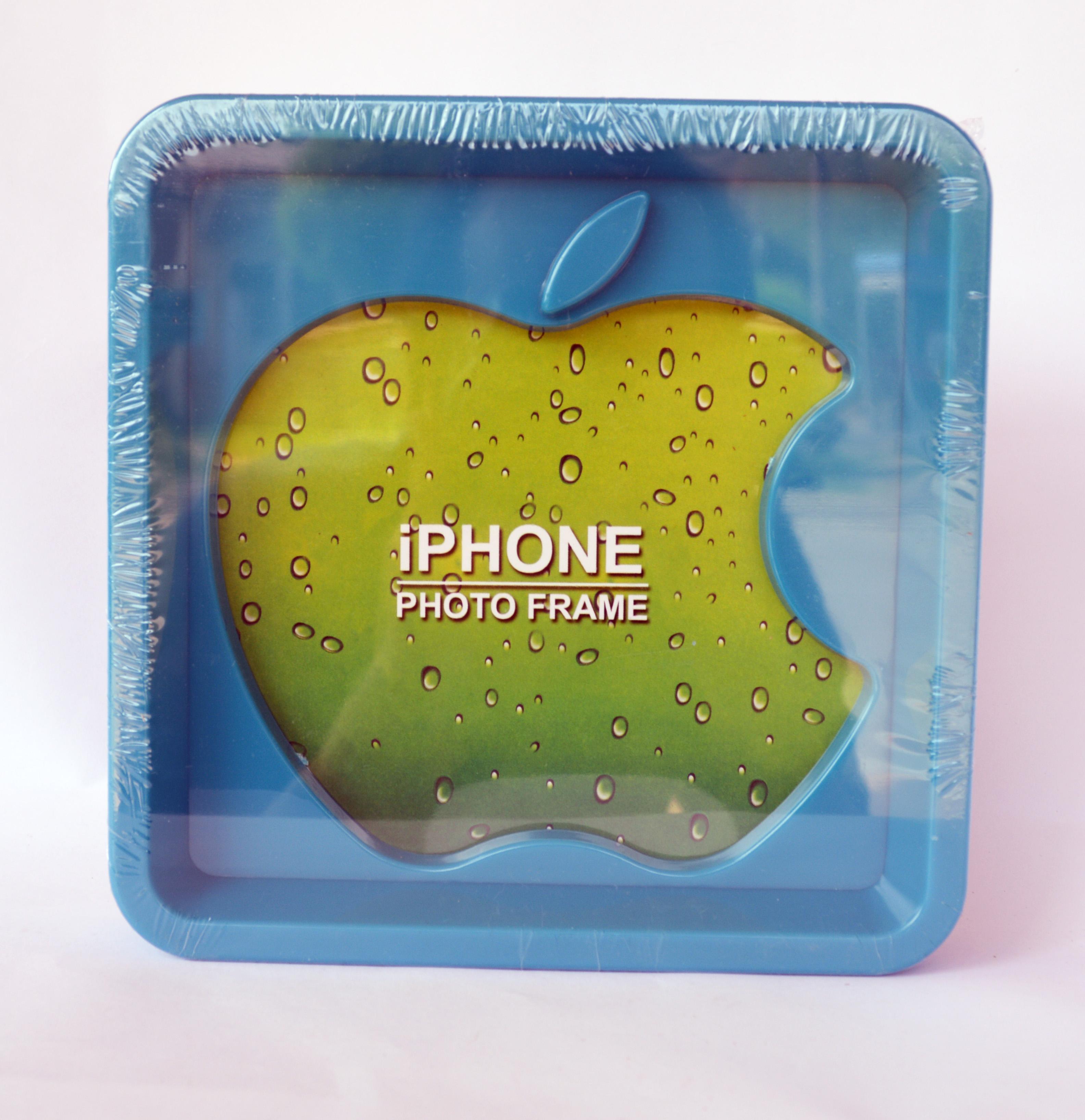 กรอบรูป apple สีฟ้า ขนาด 18*18 ซม. รหัส 1692