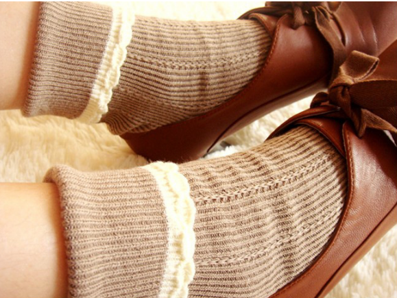 ถุงเท้าน่ารัก สไตล์พับข้อ
