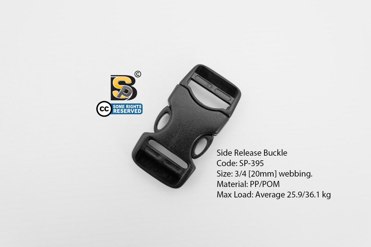 ก้ามปู 6 หุน เปลือย (แข็ง) / Side Release Buckle (3/4)