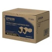 Epson S050594 Black Toner Cartridge (Double pack)