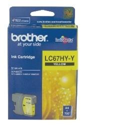 Brother LC-67HYY ตลับหมึกอิงค์เจ็ท สีเหลือง Yellow Original Ink Cartridge (ขนาดพิเศษ)