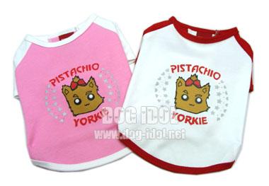 **ไซส์ 1สีชมพู-ขาว / ไซส์ 3 สีขาว-แดงพร้อมส่ง** เสื้อยืดลาย Yorkshire Terrier