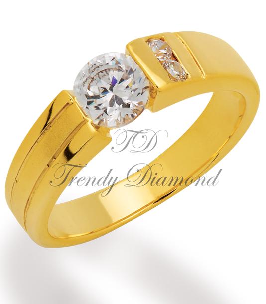 แหวนเพชร The Royal สีทอง