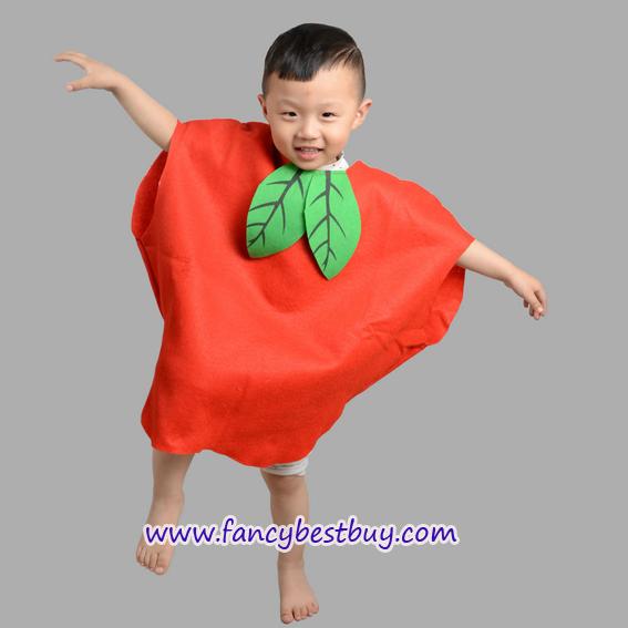 ชุดแอปเปิ้ลสำหรับใส่เป็นชุดแฟนซีผลไม้สำหรับเด็ก Apple Costume ขนาดฟรีไซด์ ชุดยาว 50 ซม.
