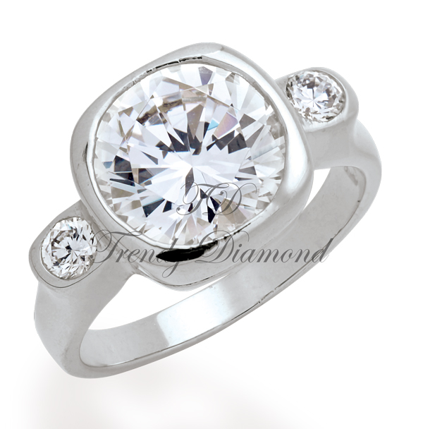 แหวนเพชร แหวน Sonata สีทองคำขาว