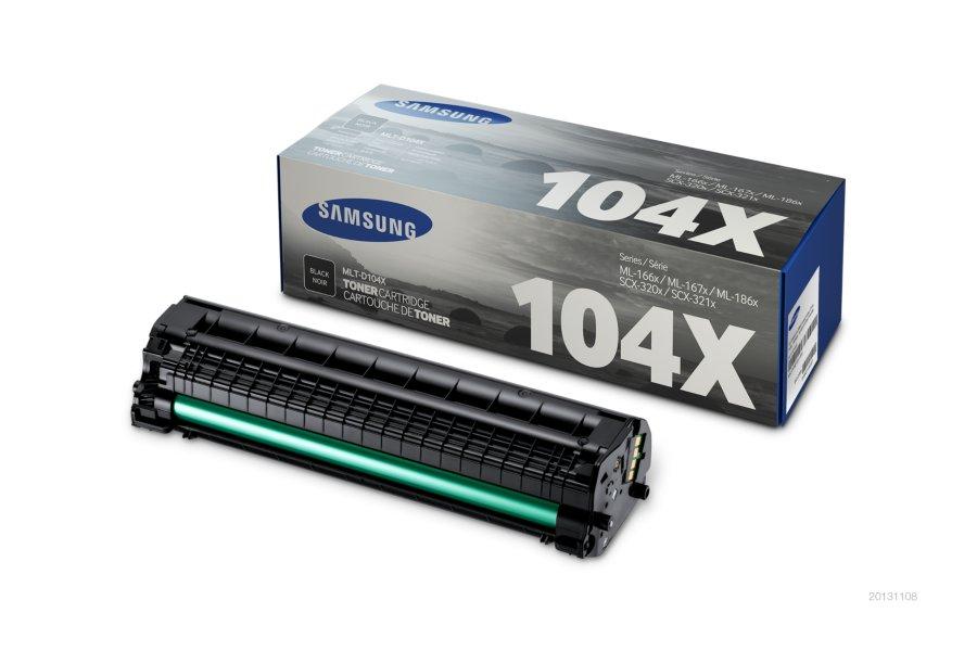 Samsung MLT-D104X ตลับหมึกโทนเนอร์ สีดำ ของแท้ Black Original Toner Cartridge (SU754A)