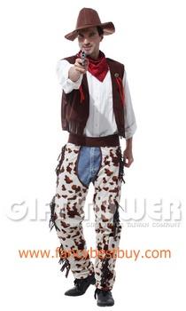 ชุดแฟนซีผู้ชาย ชุดคาวบอย Cowboy Costume ขนาดฟรีไซด์
