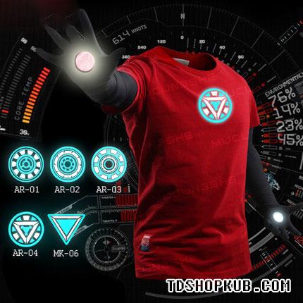 เสื้อยืด Iron Man ไอรอนแมน (ลายสกีนเรืองแสง)