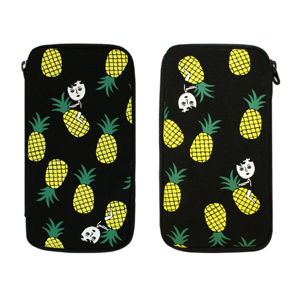 AURORE ON THE PINEAPPLE FABRIC PENCIL POUCH