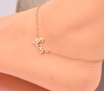 gold diamond anklets goat gold titanium steel