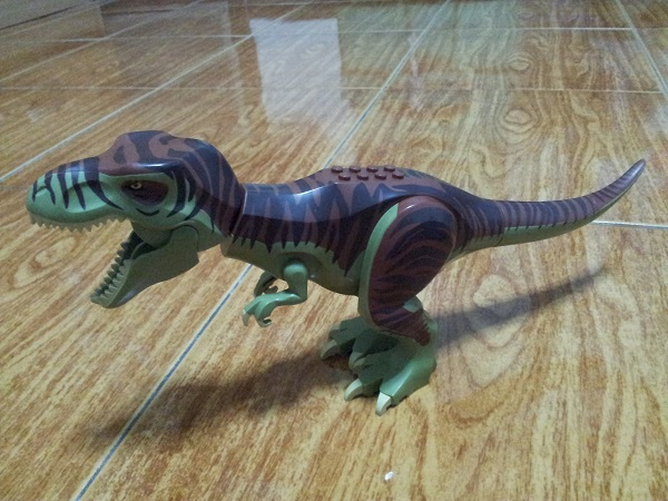 Dino T-Rex with Reddish Brown and Dark Brown Back
