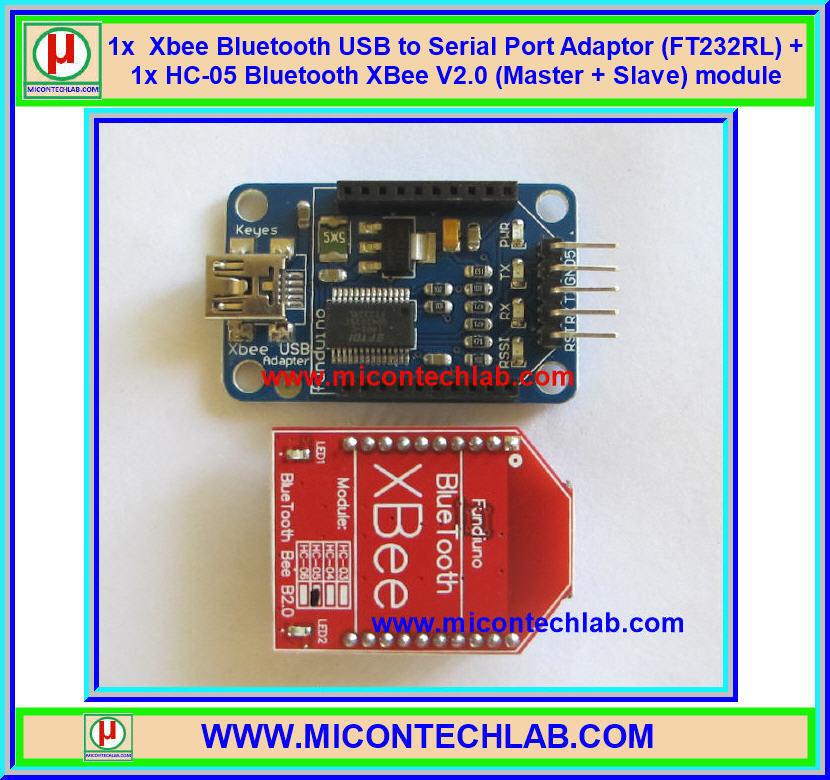 1x Xbee Bluetooth Adapter (FT232RL) + HC-05 Bluetooth V2.0 (Master + Slave)